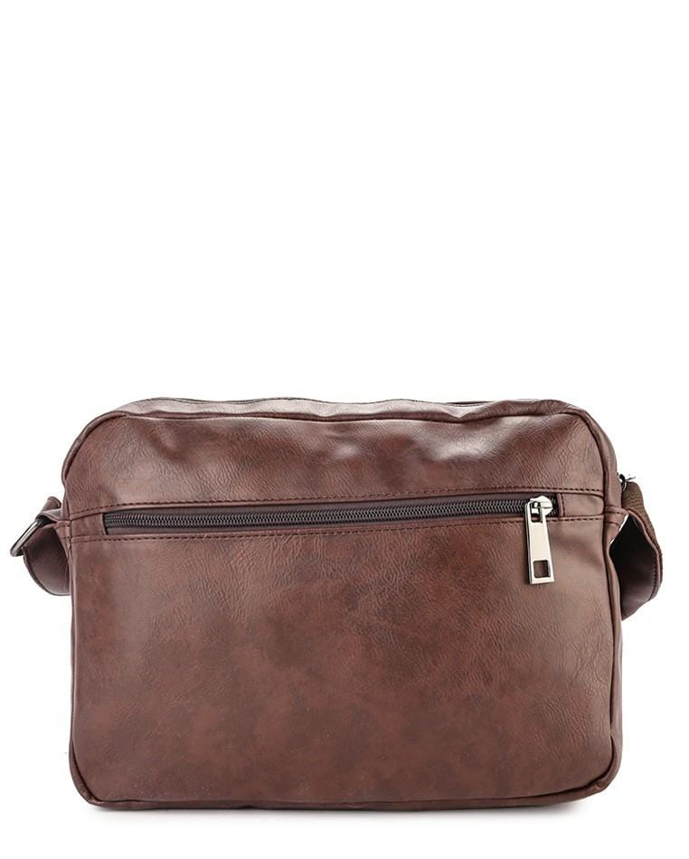 Distressed Leather EDC Crossbody Bag - Dark Brown Messenger Bags - Urban State Indonesia