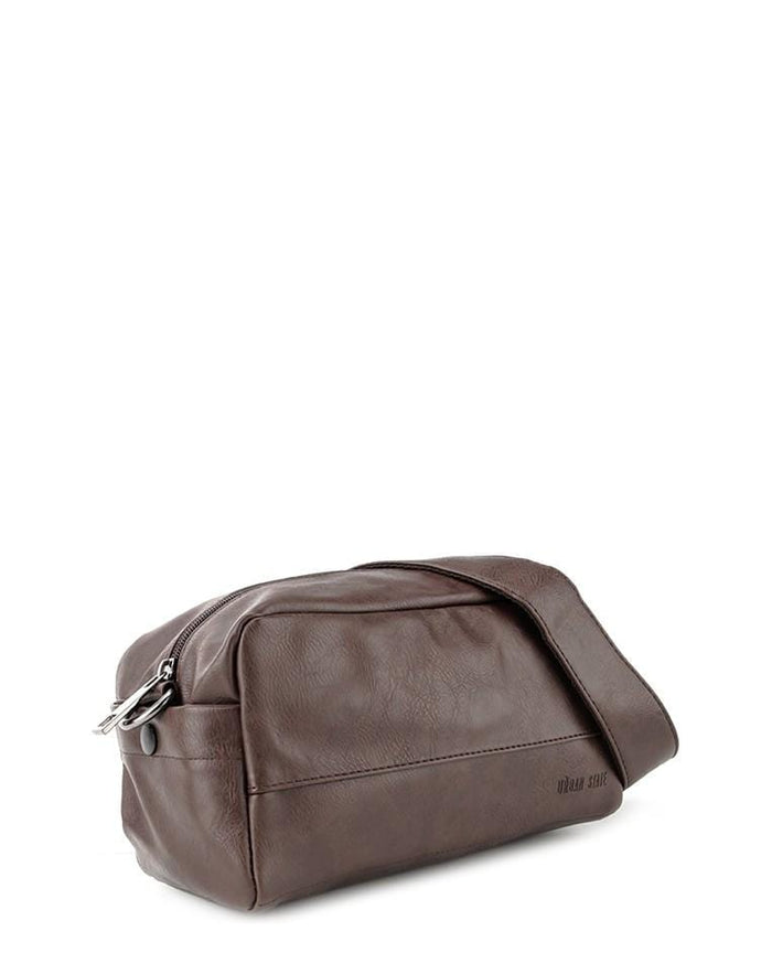 Distressed Leather Crossbody Pouch - Dark Brown Messenger Bags - Urban State Indonesia