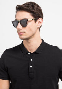 Polarized Barstow Square Aviator Sunglasses - Black Sunglasses - Urban State Indonesia