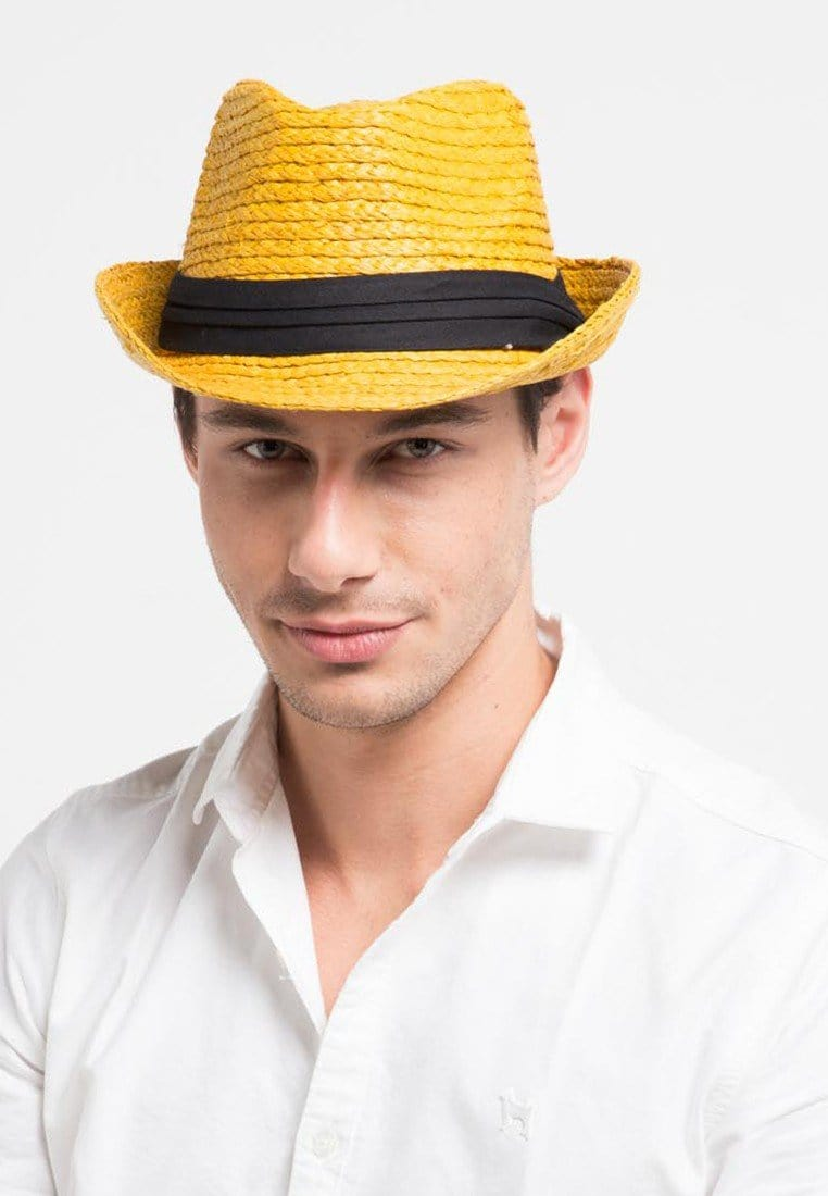 Straw Beach Panama Hat - Yellow