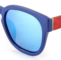Polarized Matte Rim Square Sunnies - Blue Blue Sunglasses - Urban State Indonesia
