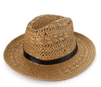 Belted Panama Hat - Brown Fedora Hat - Urban State Indonesia