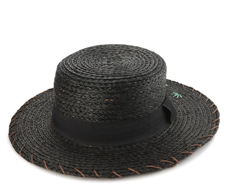 Shark Straw Beach Hat - Black
