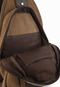 Canvas Zip Small Slingbag - Brown Slingbags - Urban State Indonesia