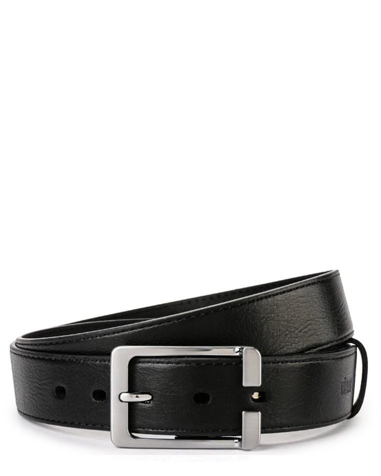 Casual Pin Buckle Top Grain Leather Belt - Black Belts - Urban State Indonesia