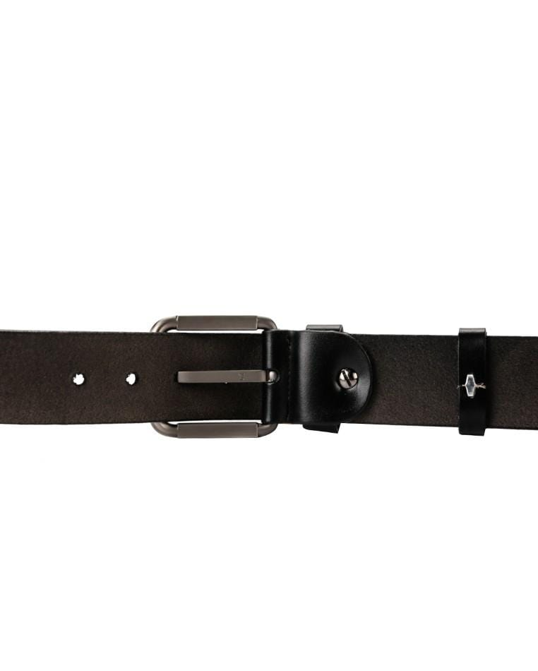 Gunmetal Pin Buckle Top Grain Leather Belt - Black Belts - Urban State Indonesia