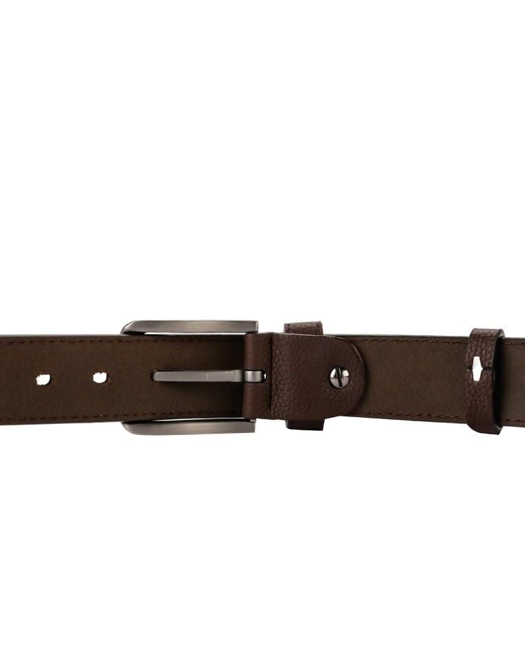 Weekend Pin Buckle Top Grain Leather Belt - Brown Belts - Urban State Indonesia