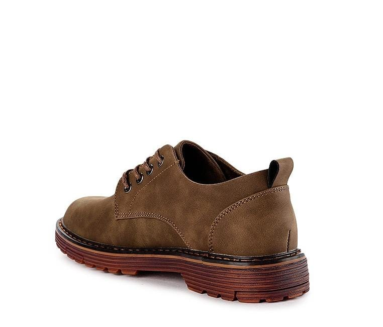 Lace Up Flat Casual Derby Shoes - Khaki Derby - Urban State Indonesia