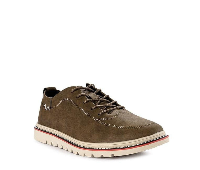 Lace Up Flat Sporty Derby Shoes - Khaki Derby - Urban State Indonesia