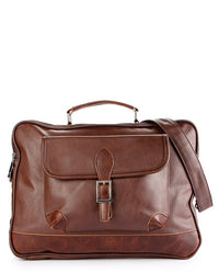Distressed Leather Laptop Bag - Dark Brown Messenger Bags - Urban State Indonesia