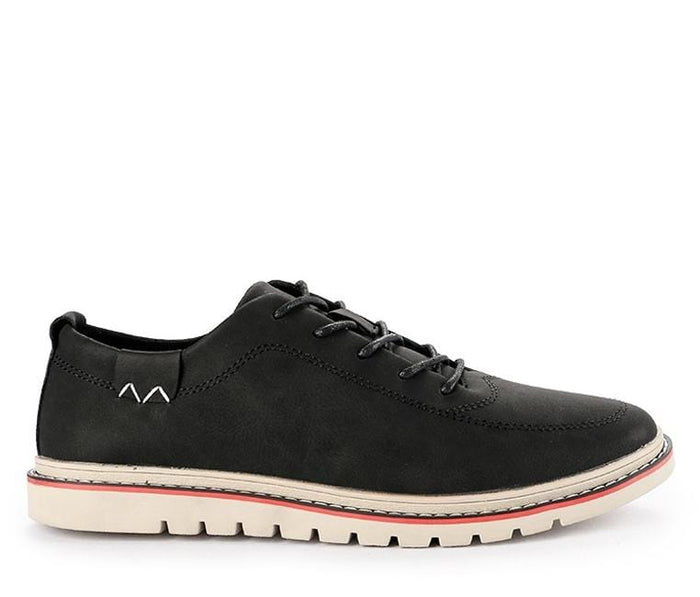 Lace Up Flat Sporty Derby Shoes - Black Derby - Urban State Indonesia