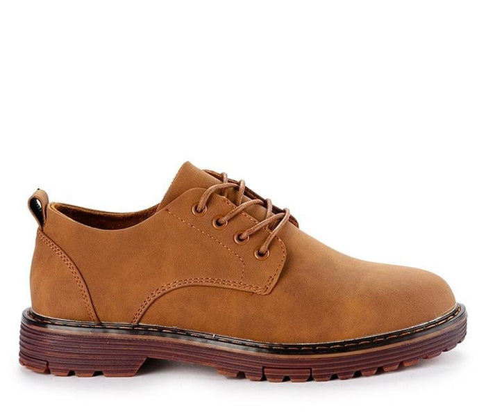 Lace Up Flat Casual Derby Shoes - Brown Derby - Urban State Indonesia