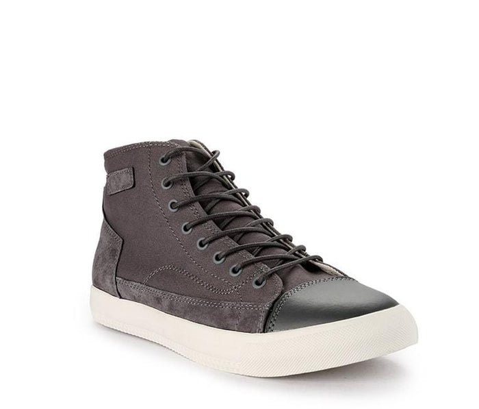 Suede Lace Up High Top Sneakers - Grey Sneaker - Urban State Indonesia