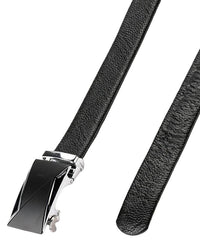 Industrial Plate Buckle Full Grain Leather Belt - Black Belts - Urban State Indonesia