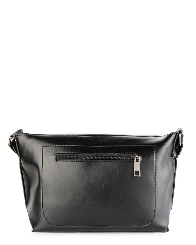 Distressed Leather Flap Medium Shoulder Bag - Black Messenger Bags - Urban State Indonesia