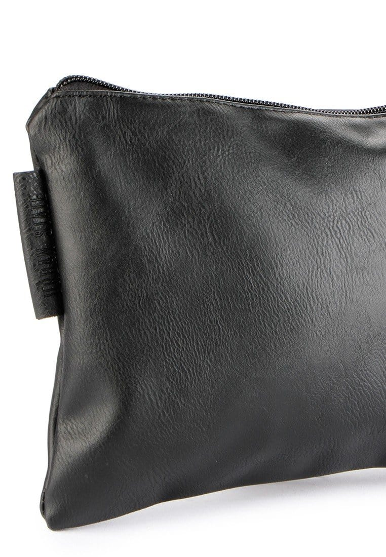 Distressed Leather Pouch Clutch - Black Clutch - Urban State Indonesia