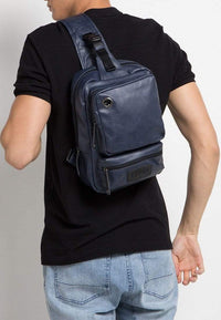Pu Zipper Ring Contrast Slingbag - Navy Slingbags - Urban State Indonesia