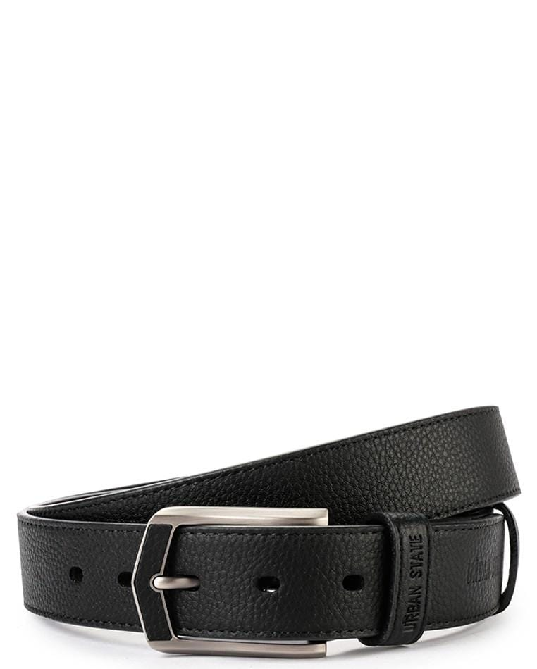 Weekend Pin Buckle Top Grain Leather Belt - Black Belts - Urban State Indonesia