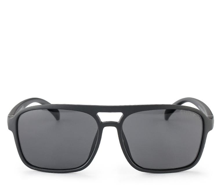 Polarized Barstow Rectangular Aviator Sunnies - Black Matte Sunglasses - Urban State Indonesia