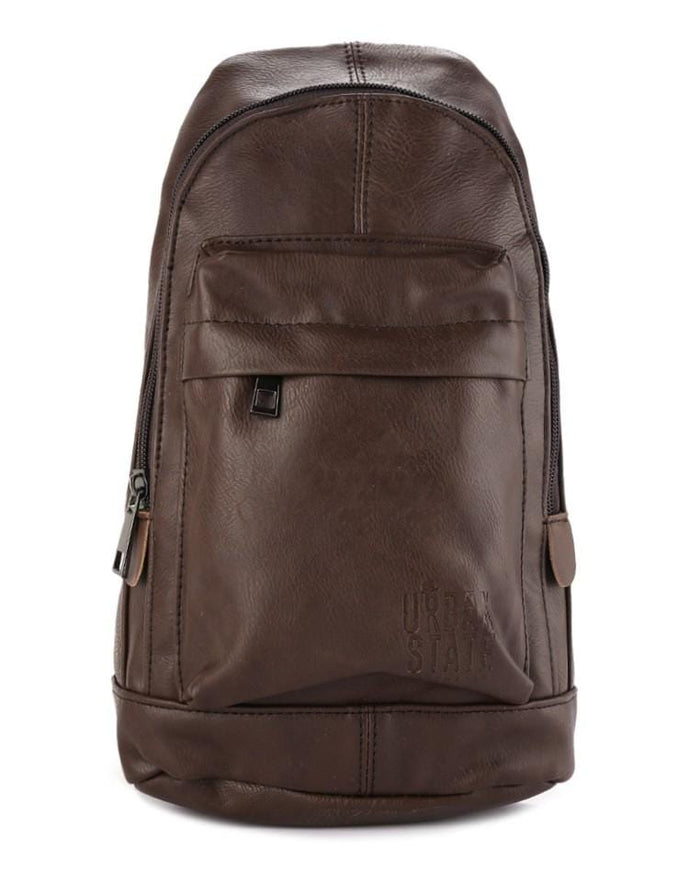 Distressed Leather Dome Slingbag - Dark Brown Slingbags - Urban State Indonesia