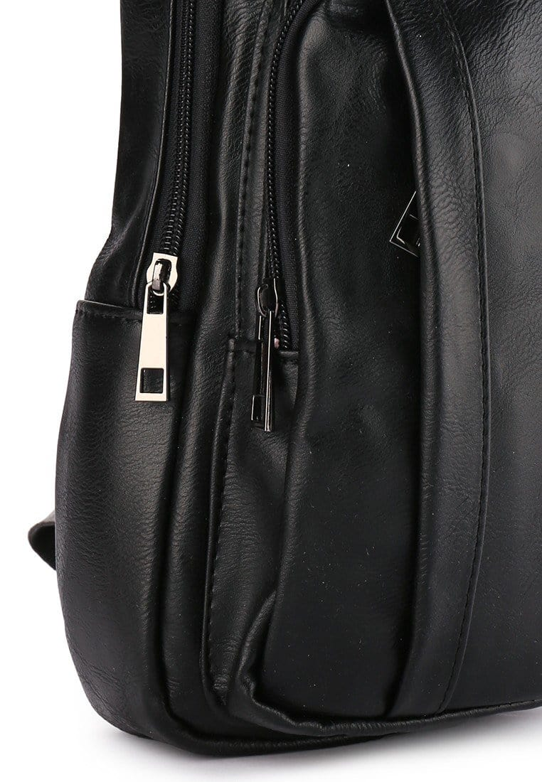 Distressed Leather  Pocket Slingbag - Black Slingbags - Urban State Indonesia