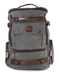 Canvas Bucket Large Backpack - Grey Backpacks - Urban State Indonesia