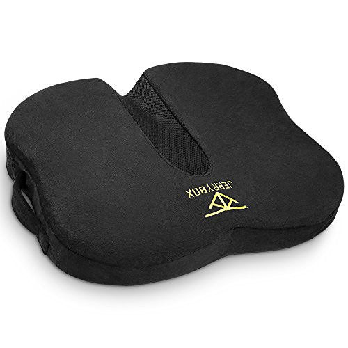 Jerrybox Butterfly Health Seat Cushion Ergonomic Contoured Butterfly-Shaped Buttock Design Slow Rebounding Memory Foam
