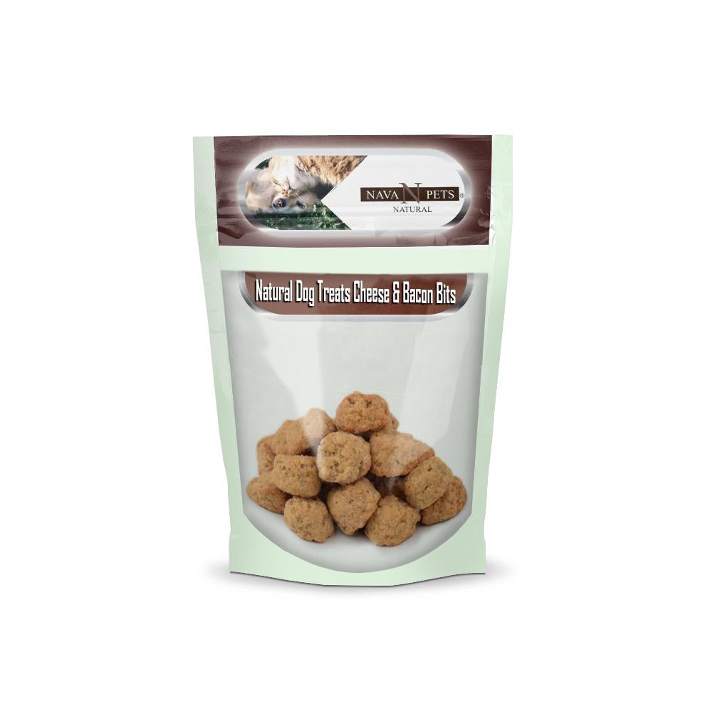 Natural Dog Treats Cheese & Bacon Bits