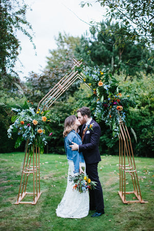Copper Wedding Arch for a Botanical Summer Wedding