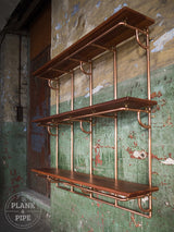 Large Copper Pipe Shelving Unit - 3 Tier Large
