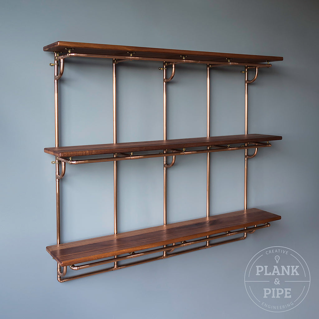 Copper Pipe Shelving Unit 3 Tier – Plank & Pipe