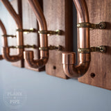 Copper Pipe Clothes Hanger Hooks