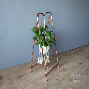 Copper Pipe Botanical Plant Hanger
