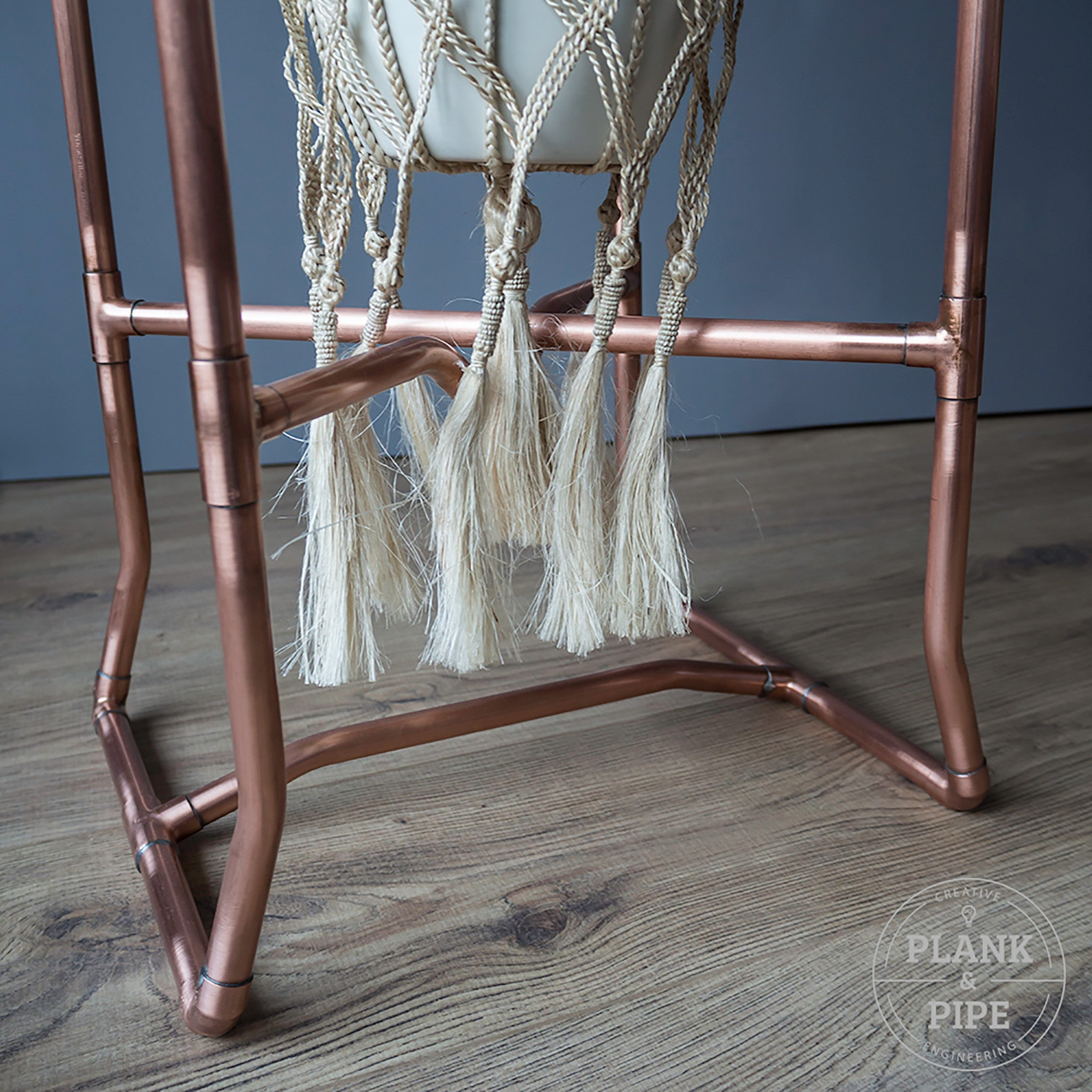 Copper Pipe Botanical Side Table
