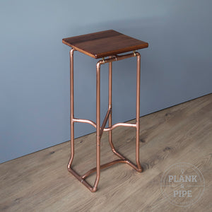 Copper Pipe Botanical Plant Stand Small