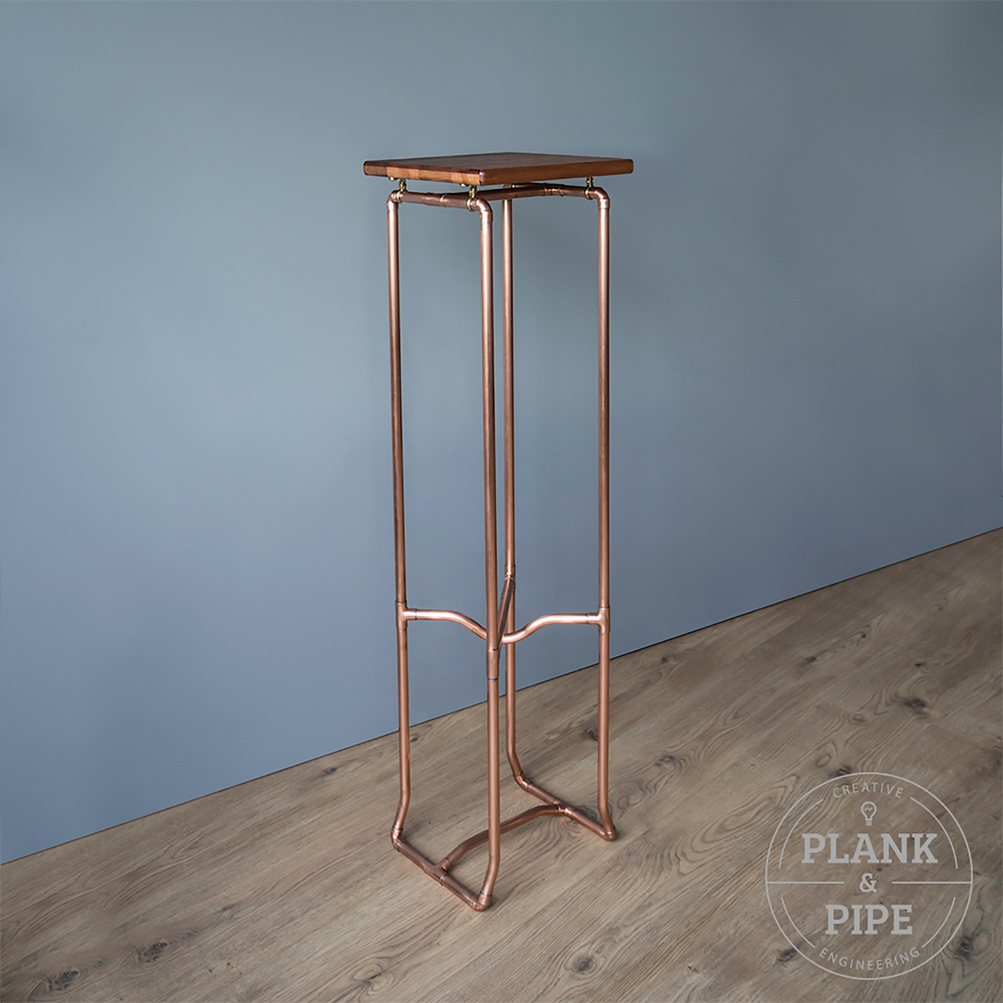 Copper Pipe Botanical Plant Stand Tall