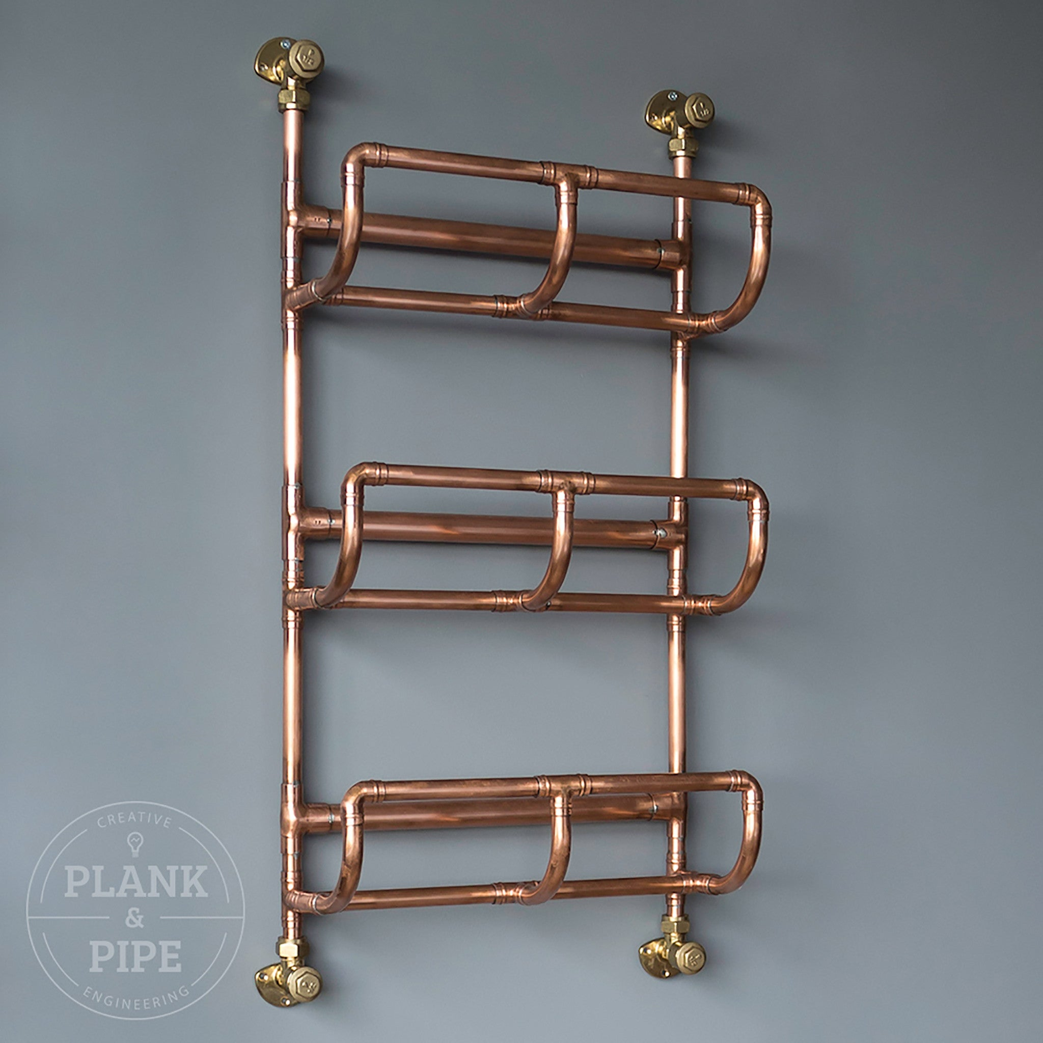 Copper Towel Rack 3 Tier without Towels