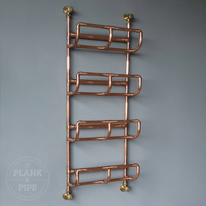 Copper towel rack with 4 tiers