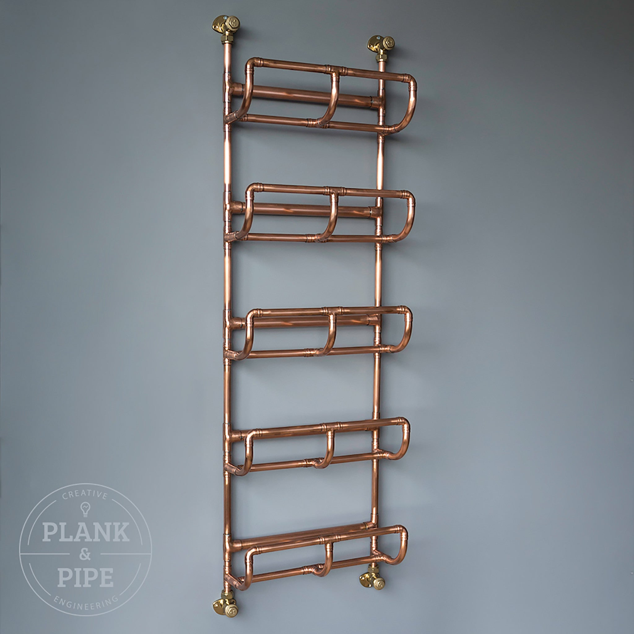 Copper towel rack with 5 tiers