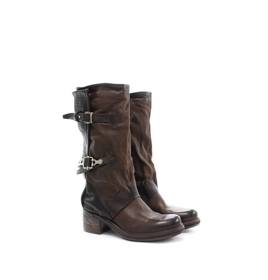 A.S.98 Tall Strappy Biker Boot