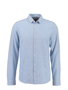 Garcia Men's Long Sleeve Linen Mix Shirt