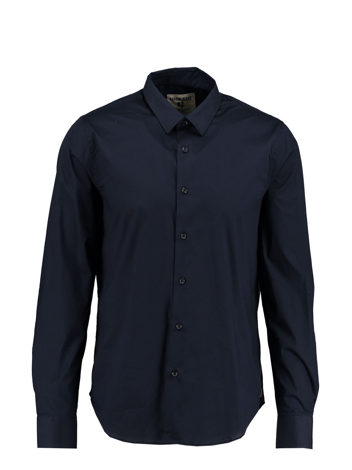 Garcia Men's Long Sleeve Navy Shirt