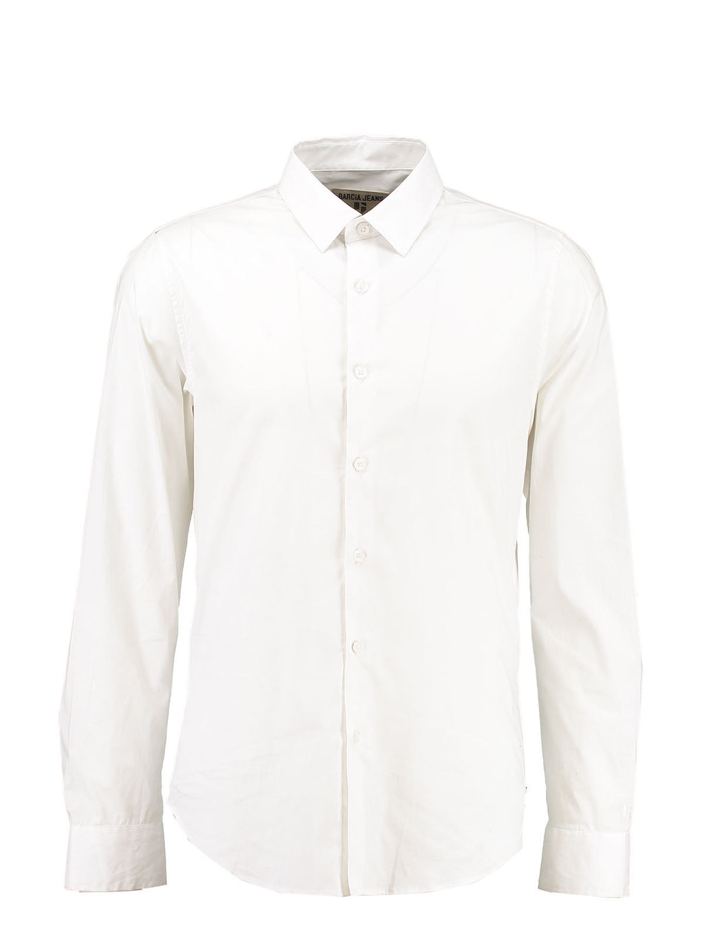 Garcia Men's Long Sleeve White Shirt