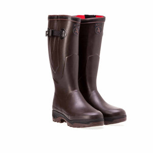 Aigle Dark Brown Parcours 2 ISO Anti-Fatigue Rubber Boots
