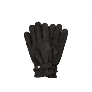 Aigle Gilmor Black Leather Gloves - LAST PAIR REDUCED!!