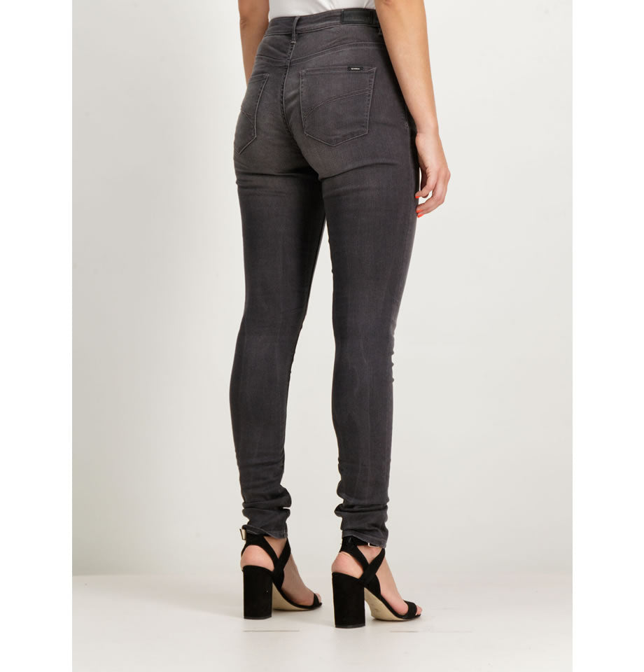 Celia, High-Waisted, Super-Slim, Dark Grey Jeans 3154