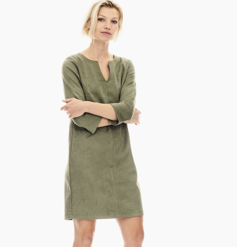 Garcia Fern Green Suedette Dress GS000881