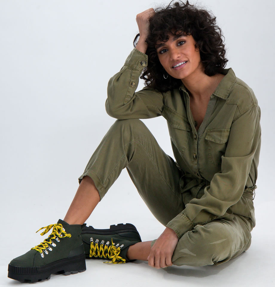Ladies Olive Green Combat Trousers M00102