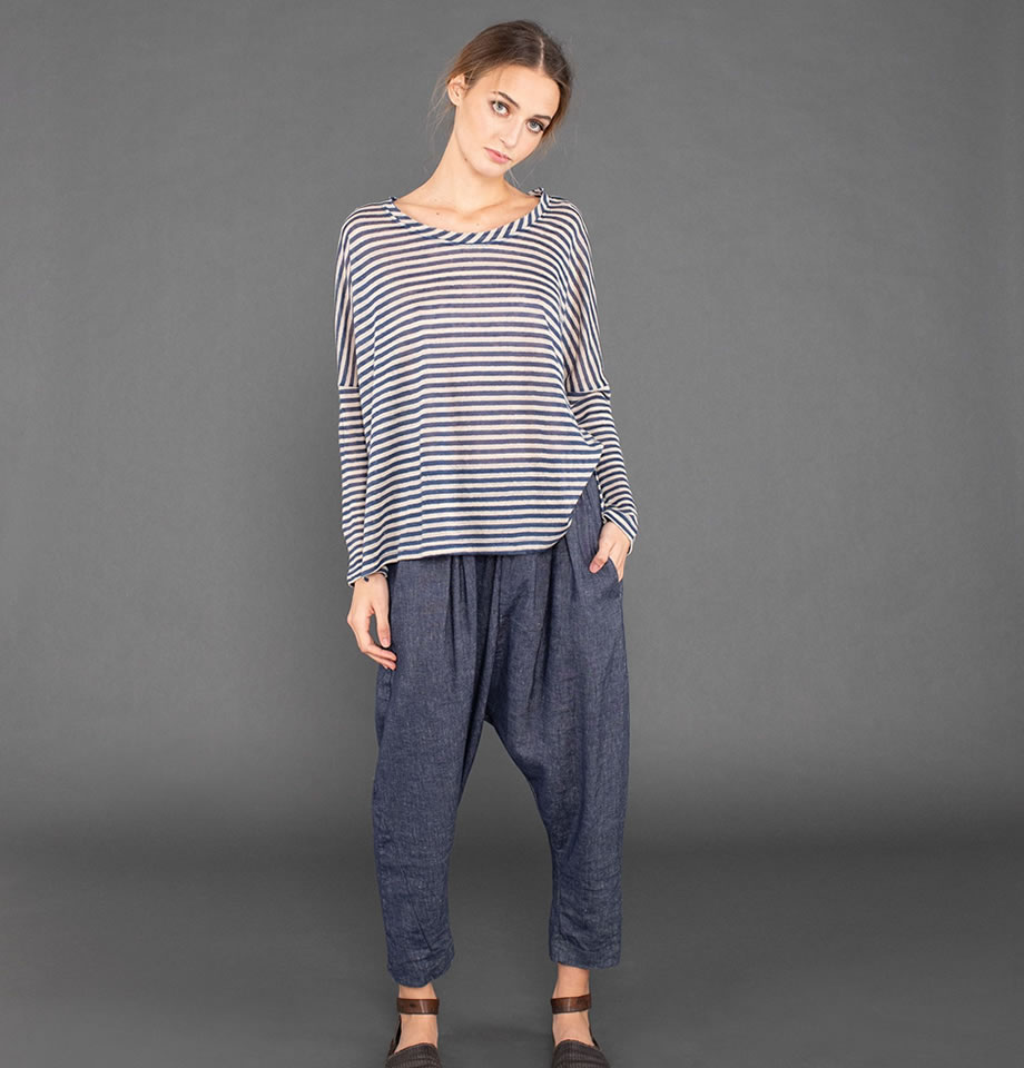 Mama B Flu Nero Denim Pantalone