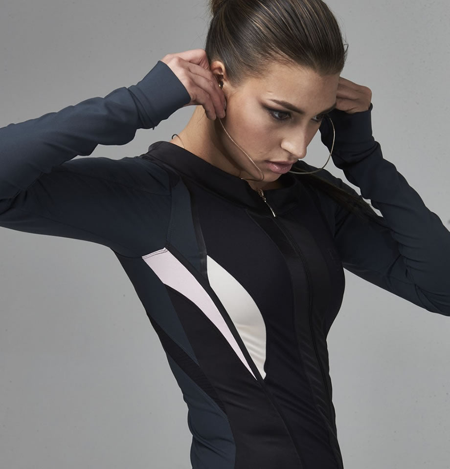 Elle Sport Contour Panelled Statement Workout Jacket
